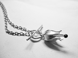 Little wild tulip in silver