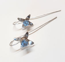 Flower earpieces Little Bluet