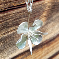 Necklace fireweed silver