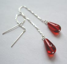 Chain earrings with drops