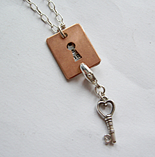 Necklace with secret message