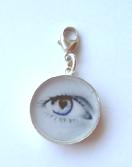 Eye charm with lock S