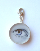 Eye charm with lock L