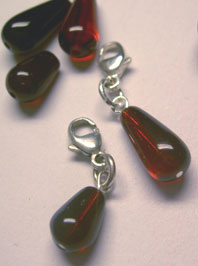 Blood drop charm