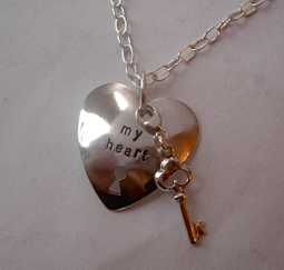 Necklace with a message