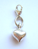 Silver heart charm with lock