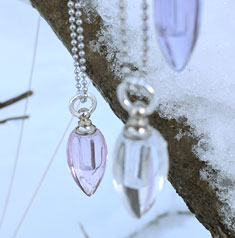Fragrance necklace - glass pendant