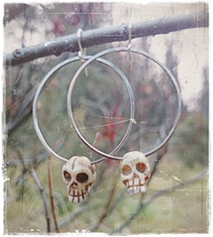 Cool skull earrings