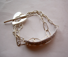 Beautiful bracelet in silver