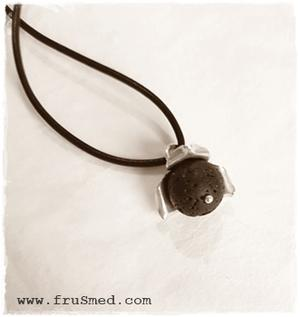 Fragrance perfume necklace - lava stone