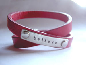 believe läderarmband SMALL