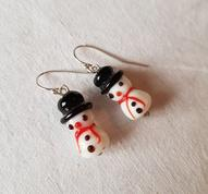 Snowman earhooks